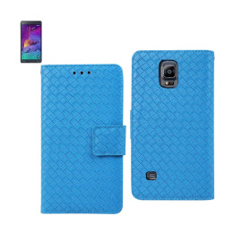WALLET CASE 3 IN 1 FOR SAMSUNG GALAXY NOTE 4 BRAIDED PATTERN
