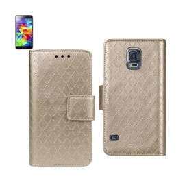 WALLET CASE 3 IN 1 FOR Samsung Galaxy S5 RHOMBUS PATTERN