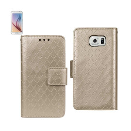 WALLET CASE 3 IN 1 FOR Samsung Galaxy S6 RHOMBUS PATTERN