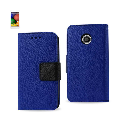WALLET CASE 3 IN 1 FOR MOTOROLA MOTO E NAVY