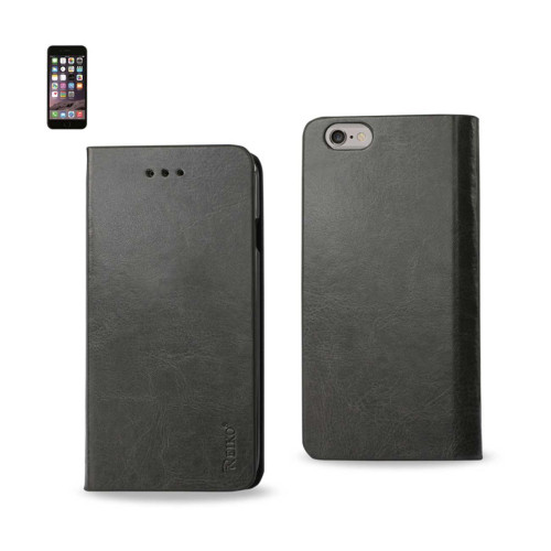 FLIP CASE WITH CARD HOLDER FOR IPHONE6 PLUS 5.5inch GRAY