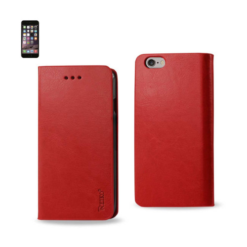 FLIP CASE WITH CARD HOLDER FOR IPHONE6 PLUS 5.5inch RED