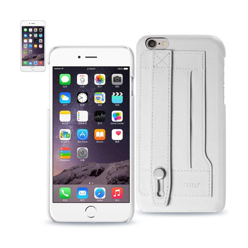 REIKO IPHONE 6 PLUS GENUINE LEATHER HAND STRAP CASE IN IVORY