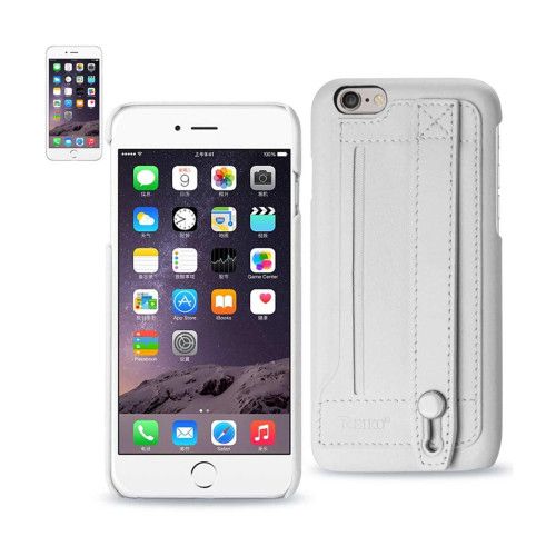 REIKO IPHONE 6 GENUINE LEATHER HAND STRAP CASE IN IVORY