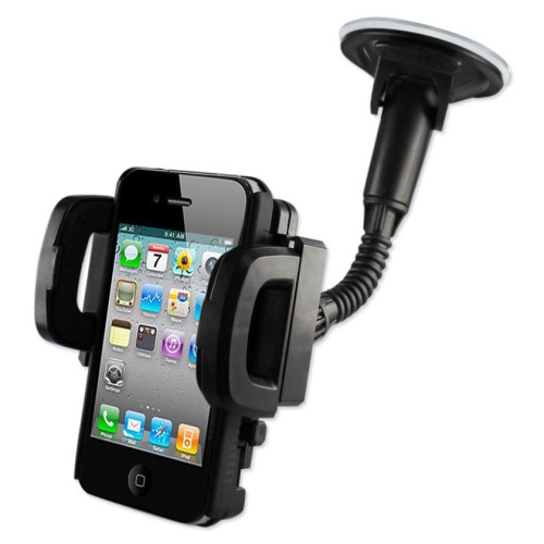 Phone holder for car suction on windshield or dashboard BLAC