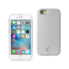 REIKO IPHONE 6/ 6S LED SELFIE LIGHT UP ILLUMINATED CASE IN SILVER