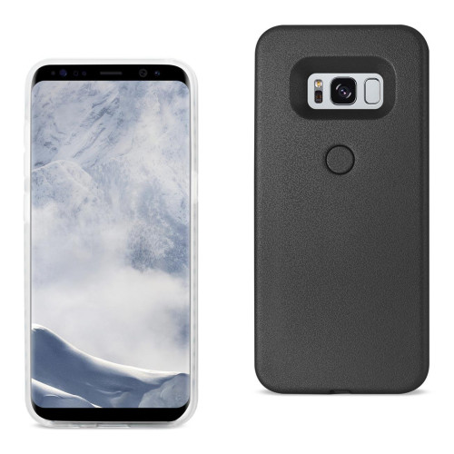 REIKO SAMSUNG GALAXY S8 EDGE LED SELFIE LIGHT UP ILLUMINATED CASE IN BLACK