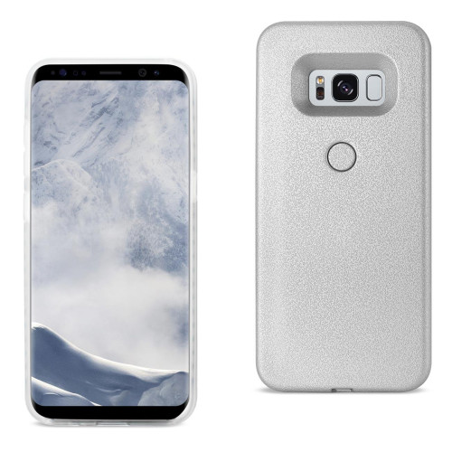 REIKO SAMSUNG GALAXY S8 LED SELFIE LIGHT UP ILLUMINATED CASE IN SILVER