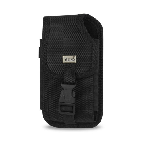 VERTICAL RUGGED POUCH HTC HD2 T8585 PLUS-BLACK WITH VELCRO BUCKLE CLIP INNER SIZE: 5.16X3.04X0.83INCH