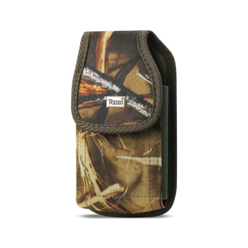 Reiko Vertical Rugged Pouch With Buckle Clip In Camouflage (6.0X3.3X0.7 Inches)