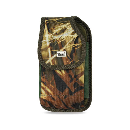Reiko Vertical Rugged Pouch With Metal Belt Clip In Camouflage (4.4X2.3X0.9 Inches)