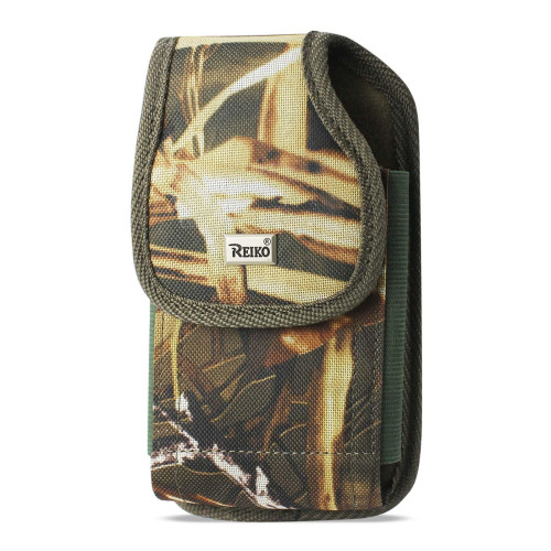 Reiko Vertical Rugged Pouch With Metal Belt Clip In Camouflage (5.3X2.7X0.7 Inches)