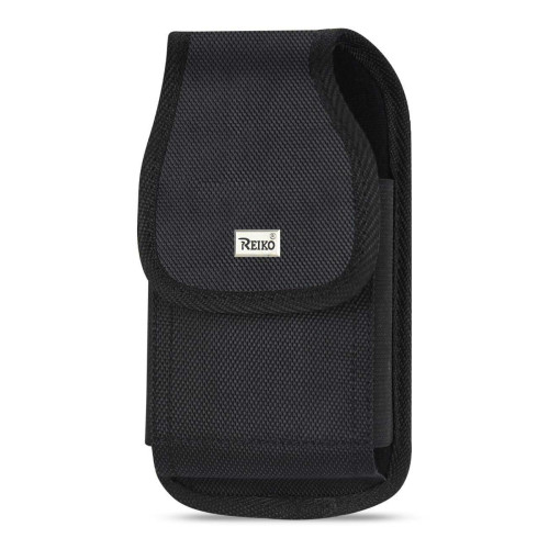 Reiko Vertical Rugged Pouch With Metal Belt Clip In Black (5.3X2.7X0.7 Inches)