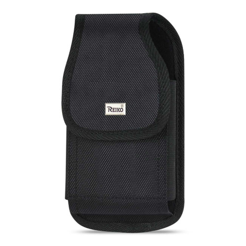 Reiko Vertical Rugged Pouch With Metal Belt Clip In Black (6.1X3.2X0.7 Inches)