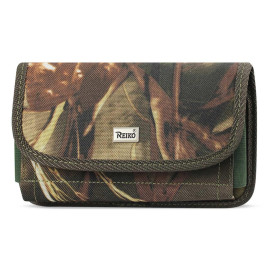 Reiko Horizontal Rugged Pouch With Velcro In Camouflage (7.0X3.9X0.7 Inches)