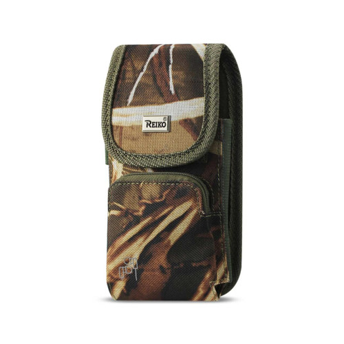 Reiko Vertical Rugged Pouch With Z Lid Pattern In Camouflage (5.8X3.0X0.7 Inches)