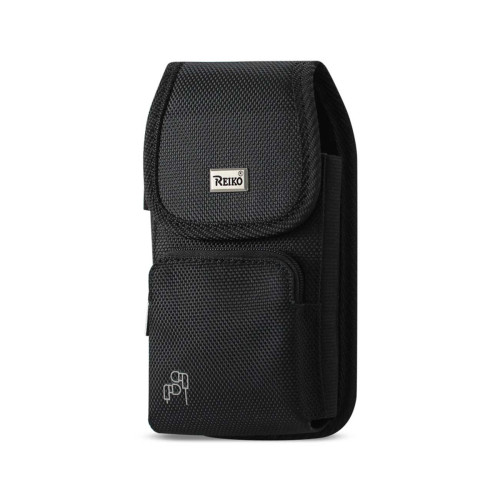 Reiko Vertical Rugged Pouch With Z Lid Pattern In Black (5.8X3.0X0.7 Inches)