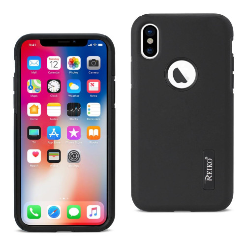 REIKO IPHONE X SOLID ARMOR DUAL LAYER PROTECTIVE CASE IN BLACK