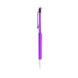 Stylus pen with ballpoint pen, crystal and clip design