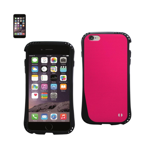 DUAL COLOR TPU CASE FOR IPHONE 6 PLUS 5.5INCH HOT PINK