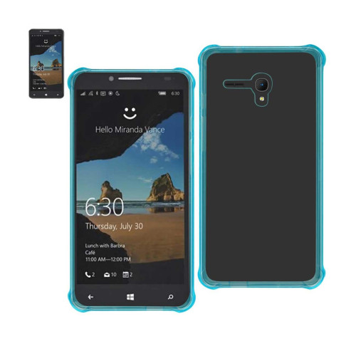 REIKO ALCATEL ONE TOUCH FIERCE XL MIRROR EFFECT CASE WITH AIR CUSHION PROTECTION IN CLEAR NAVY