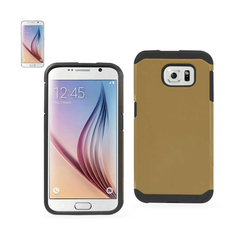 Dual Layer COLOR TPU+PC COVER FOR SAMSUNG GALAXY S6 GOLDEN