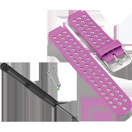 Violet/White Watch Band