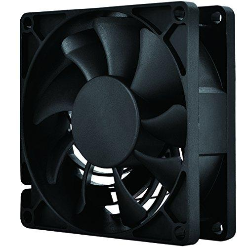 80X80X25Mm / Air Channeling Fan / Mixed Black Wing Design With Black Frame / 3Pin Fan