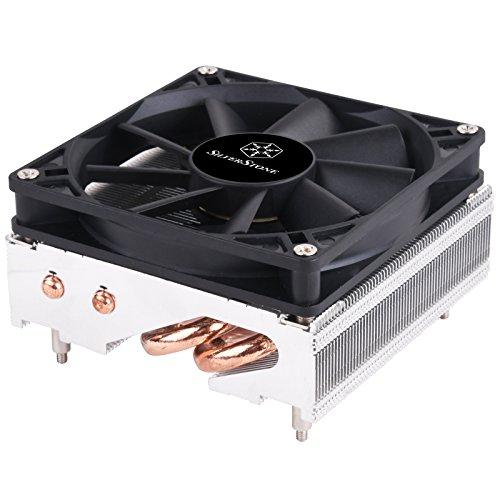 Cpu Cooler 54Mm High For Low Profile,6Mm Heatpipe *2 With Al Pin And 8015Pwm Fan Only Support Amd Socket