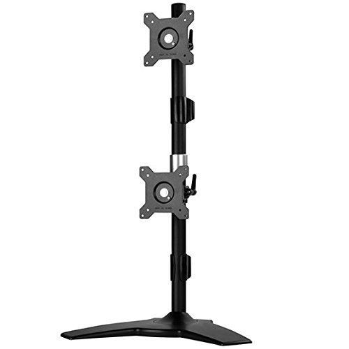 "Vertical Dual Lcd Monitor Desk Stand, Support Up To 24"" Lcd Monitor"