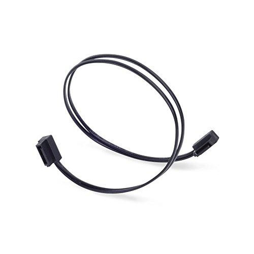 Low profile SATA 6G Cable, 300mm, Black