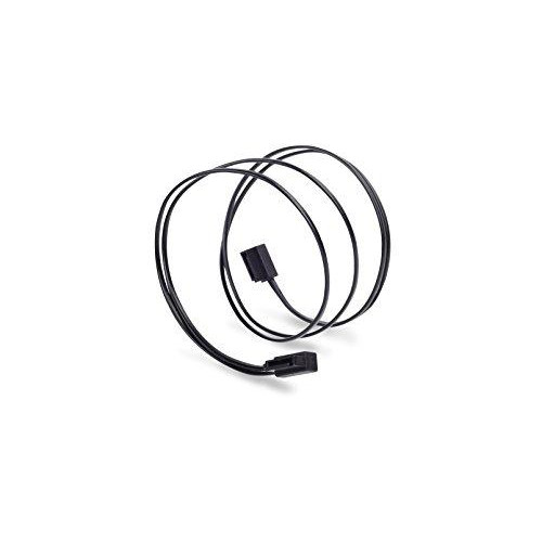 Low profile SATA 6G Cable, 500mm, Black