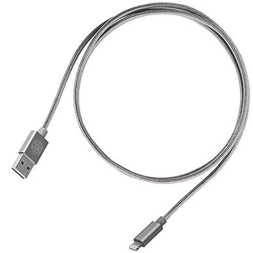 Reversible Usb-A To To Lightning Cable 1 Meter(3.3Ft), Apple Mfi Certified, Support Up To 2.6A For High Speed Charging, Nylon Braided And Aluminum Shell, Jet Black