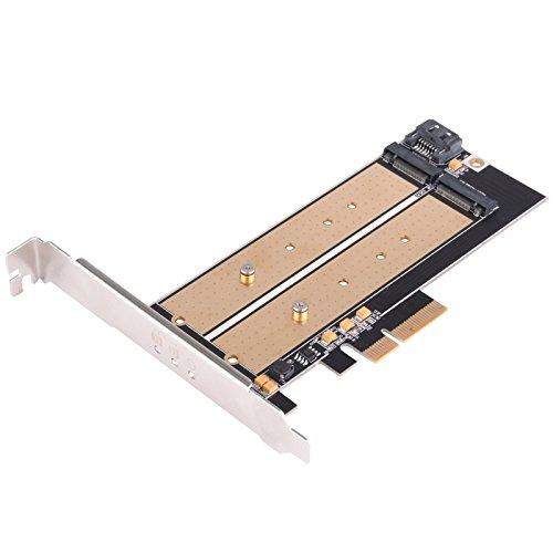Dual M.2 To Pci-E X4 Nvme Ssd And Sata 6 G Adapter Card With Advanced Cooling