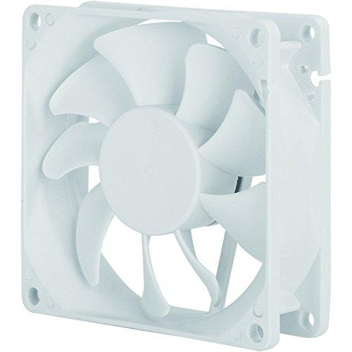 80X80X25Mm / Adjustable Speed Fan / Mixed White Wing Design With White Frame / 3Pin Fan With Speed Controller