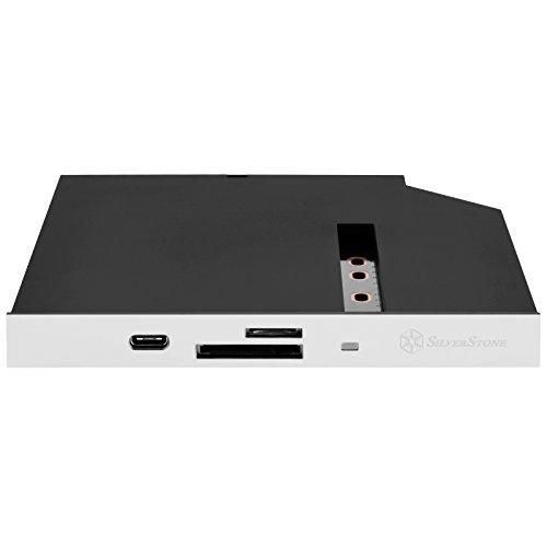 Black (With White Replace Panel), 12.7Mm Tray Loading Type Slim Odd Bay, 1 * Usb3.0 C Type, Cardreader, Support Sdxc / Micro Sdxc, 1 * M.2 Sata Type Ssd Slot