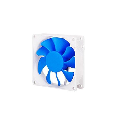 80x80x25mm / Mixed blue wing design with white frame / 4pin fan with PWM/ FDB bearing