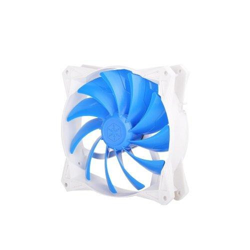 92X92X25Mm /  Mixed Blue Wing Design With White Frame / 4Pin Fan With Pwm/ Pcf Bearing