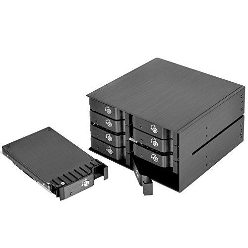 """2X5.25"""" Device Bay To 8X2.5"""" Sas/Sata 6.0 Gbits Hot-Swap Hdd(Thickness Up To 15Mm) Tray Cage"""