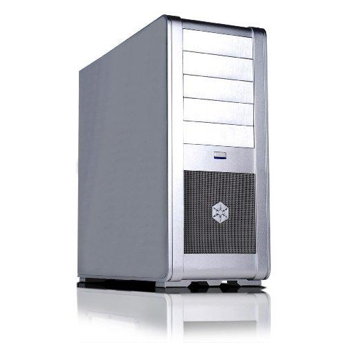 "Silver, Aluminum Alloy Mid-Tower Case, Standard Atx, Micro Atx; 5.25"" X 5 External, 3.5"" X 7 Internal, Positive Pressure Cooling"