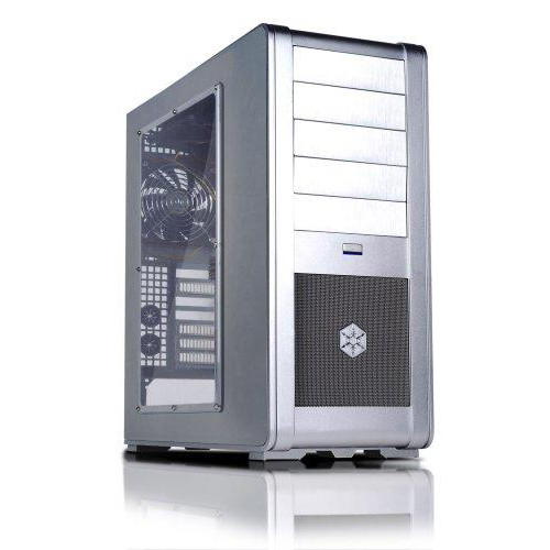 "Silver, Aluminum Alloy + Window Side Panel, Mid-Tower Case, Standard Atx, Micro Atx; 5.25"" X 5 External, 3.5"" X 7 Internal,Positive Pressure Cooling"