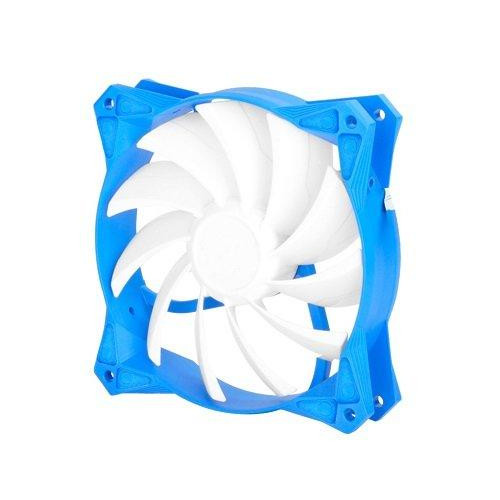 120X120X25Mm /  Mixed White Wing Design With Blue Frame / 4Pin Fan With Pwm/ Sleeve Bearing
