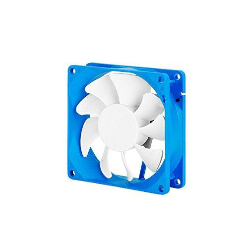 80X80X25Mm /  Mixed White Wing Design With Blue Frame / 4Pin Fan With Pwm/ Sleeve Bearing