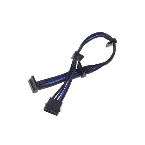 Atx 24Pin To Mb-24Pin(300Mm) Power Cable Extneder, Bicolor- Black & Blue