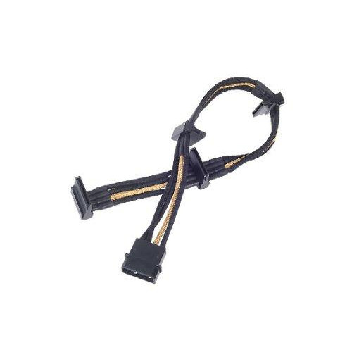 Atx 24Pin To Mb-24Pin(300Mm) Power Cable Extnede, Bicolor- Black & Gold