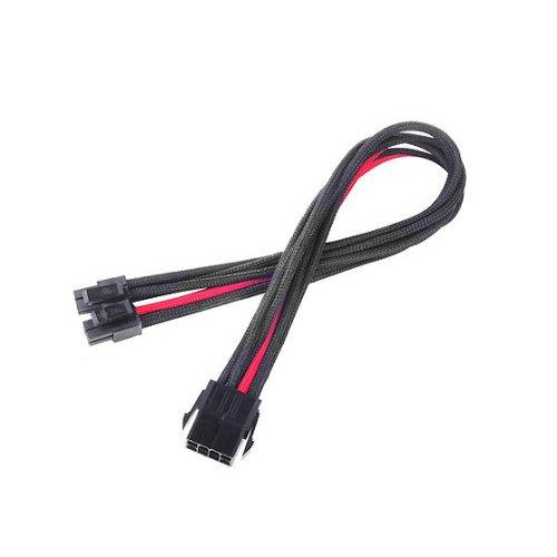 Eps-8Pin To Eps/Atx-4+4Pin(300Mm) Power Cable Extneder, Bicolor- Black & Red
