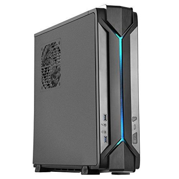 "Black, Abs Bazel, Steel Body Black Internal, Mini-Itx,4*2.5"", 2*120 Fan And 1X120 Fan Slot, 1*Audio, 1*Mic, 2*Usb3.0,Riser Card: One Pci-E X16 Expansion Slots: 2, Support Atx Psu,Rgb Led"