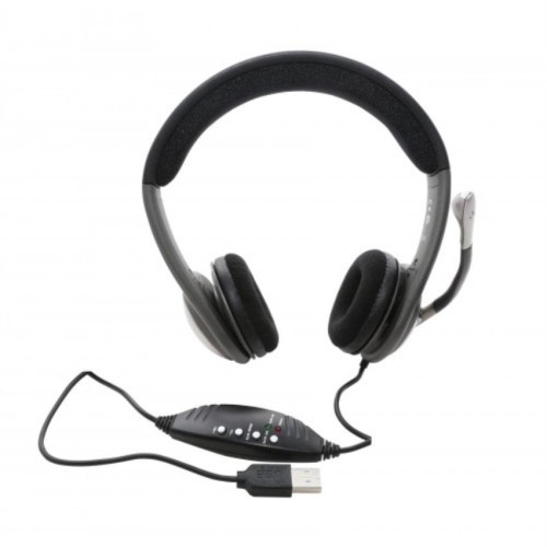 USB Interface Stereo Headphone with Built-in Microphone