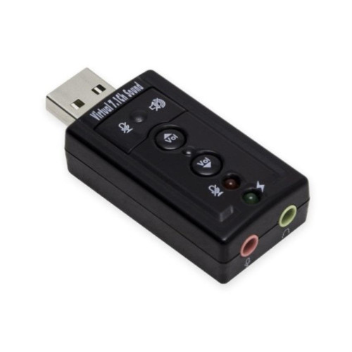 USB Stereo Audio Adapter, 7.1-Channel, C-Media Chipset, RoHS