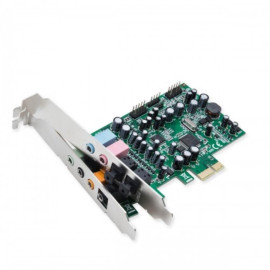 PCI-Express 24-Bit 8-Channel Surround Sound Controller Card with 8-channel Analog Outputs. 1x 2-ch Analog Input, 1x 2-ch Microphone Input, 1x S/PDIF & Coaxial Combo Input, 1x S/PDIF & Coaxial Combo Output.